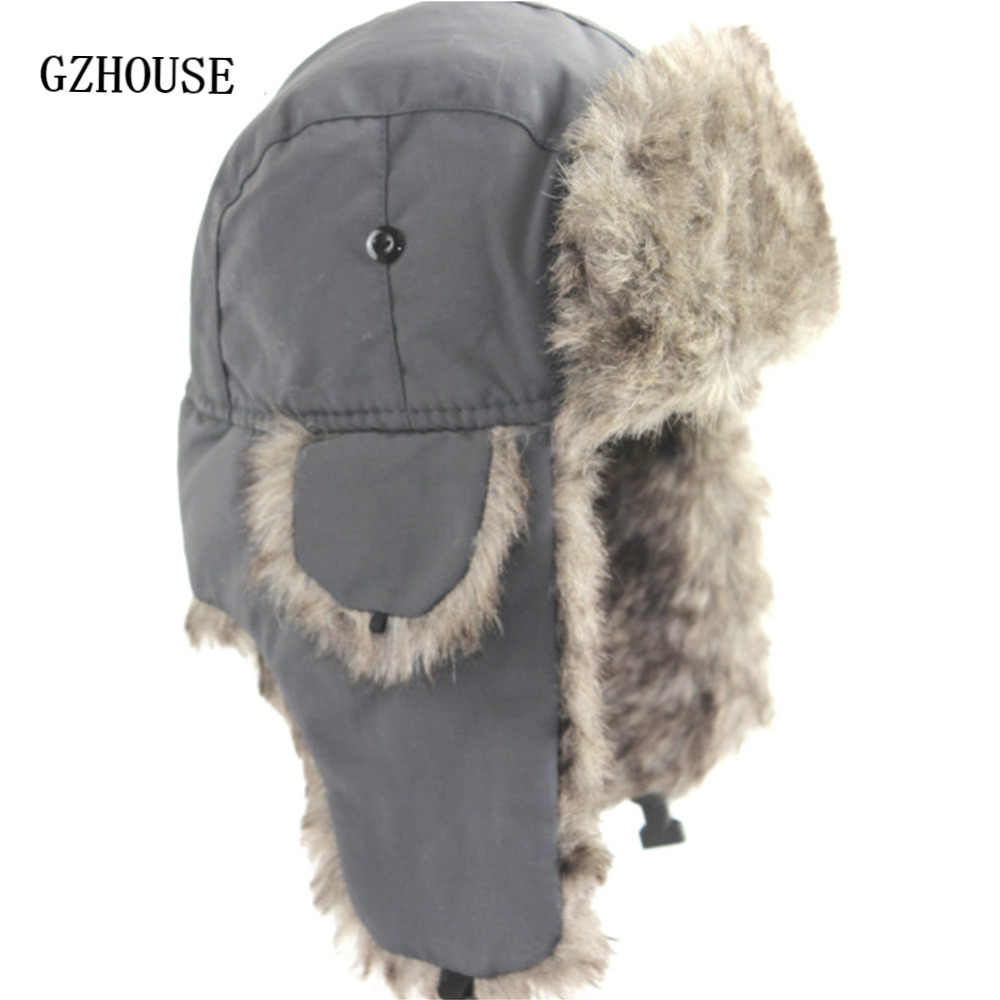 9d2c055dbf3 Detail Feedback Questions about Winter Hat Keep Warm Unisex Winter Trapper  Aviator Trooper Earflap 2019 Russian Ski Hat Fur Bomber Faux Fur  Fashionable Hats ...