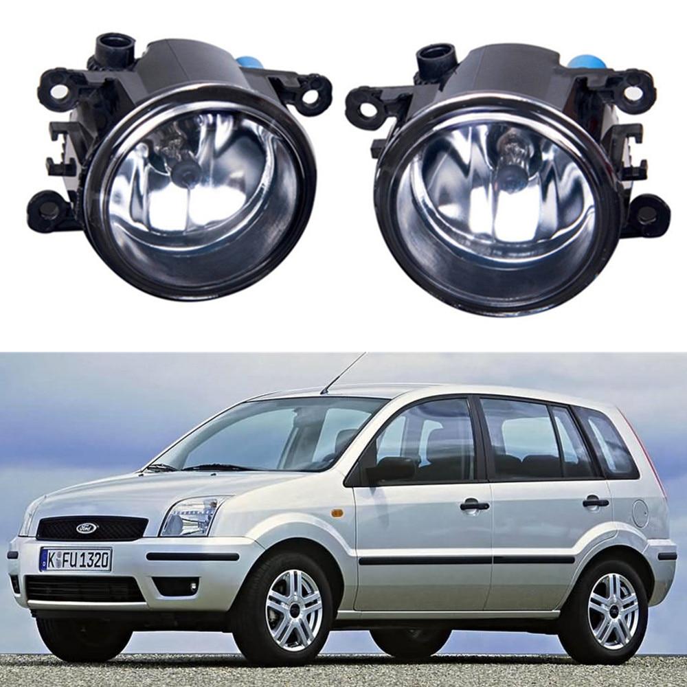 For FORD Fusion Estate JU_  2002-2015 Car styling Fog lights halogen lamps 1set car styling halogen fog lights fog lamps for nissan wingroad 2002 12v 1set