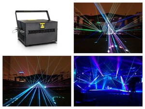F светильник + Высокая мощность полный цвет RGB 20 Вт/24 Вт/28 Вт анимация лазерное шоу DJ диско сценический светильник EMS4000 X/Y axix, ручки питания ILDA