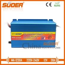 Suoer【гелевое зарядное устройство 】 зарядное устройство 30A 12V Универсальное зарядное устройство для автомобильного аккумулятора(MA-1230A