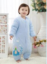 Cotton baby sleeping bag baby Sleepsacks children straddle split sleeve autumn and winter cotton infant sleeping bag
