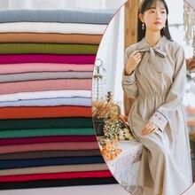 Plain-colored art slubby cotton linen cloth handmade diy fabric in spring and summe