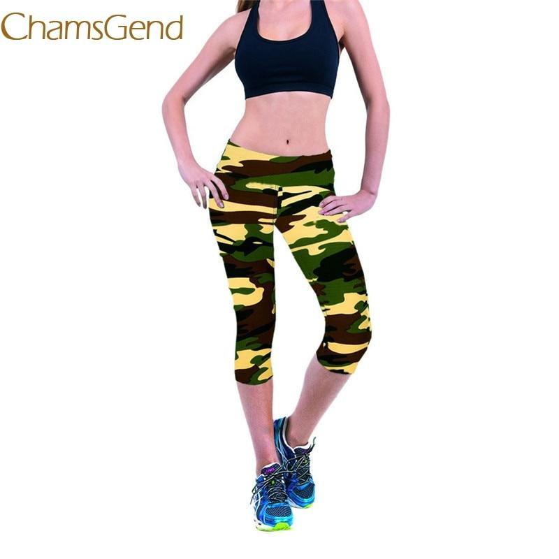 2018 leggings Workout women Pants Slim High Waist Fitness Stretch Cropped Leggings Printed #0608 1