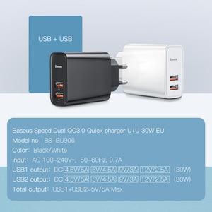 Image 2 - Baseus 30 ワット急速充電 4.0 3.0 usb充電器は過給デュアルusbタイプc pd 3.0 急速充電器iphone x xs huawei社 5A