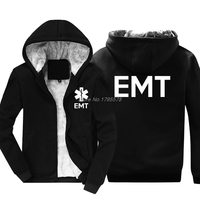 Fashion Thicken Hoodie EMT EMS Paramedic Emergency Medical Services Front & Back Men's Sweatshirt Hip Hop Jacket Tops Streetwear