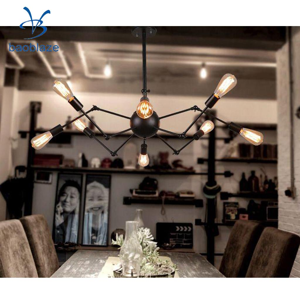 Retro Vintage DIY Chandelier Ceiling Spider Lamp Industrial Pendant Light E27 ( Bulb not include ) industrial vintage iron wheel shade ceiling light pendant lamp bulb fixture chandelier bulb not included