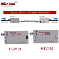 MiraBox 100 M HDMI sobre cable coaxial Extender tamaño Mini HDMI a SDI convertidor SDI a HDMI convertidor HDMI Extender sobre Cable Coaxial