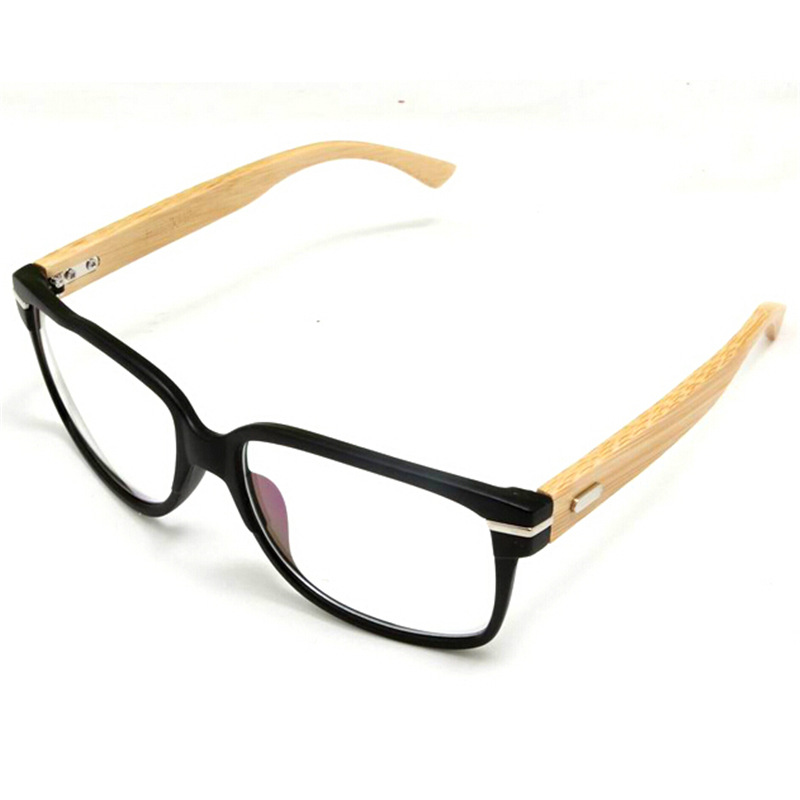 Japan Handmade Natural Bamboo Glasses Frame Clear Lens For Women Men ...