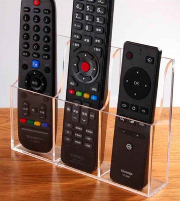 Acrylic <font><b>Remote</b></font> control fixed box wall hanging <font><b>remote</b></font> control Storage box TV air conditioning <font><b>remote</b></font> control wall hanging box image