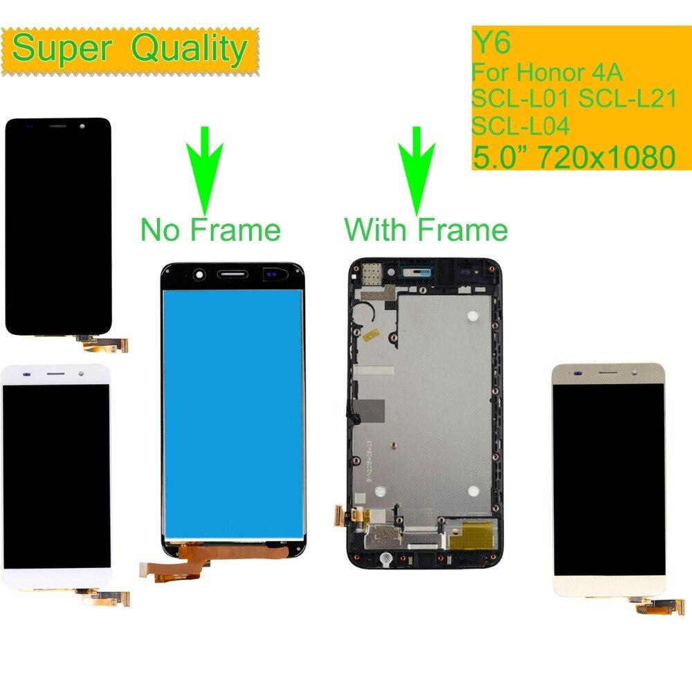 ORIGINAL Für Huawei Y6 SCL-L01 SCL-L21 SCL-L04 LCD Display Touchscreen Digitizer Montage Mit Rahmen Für Honor 4A LCD Komplette
