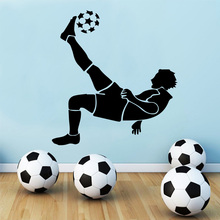 Free Shipping Soccer Wall Stickers for boys bedroom Decoration football stickers wallpaper Living Room Kids Room decor Murals цена 2017