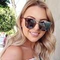 Cateye Óculos De Sol Das Mulheres 2017 Marca De Luxo de Ouro Rosa Senhoras Óculos De Sol Sunglases Luneta Olho de Gato Sexy Óculos de Sol Do Vintage Feminino