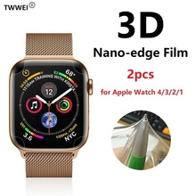 Full Cover Nano Screen Protector for iWatch 4 44mm 40mm Protective Film for Apple Watch 38 42mm Screen Protector Foil (Not Glass 2pc tpu not glass soft clear full edge cover protective film for iwatch apple watch series 4 40mm 44mm screen protector guard