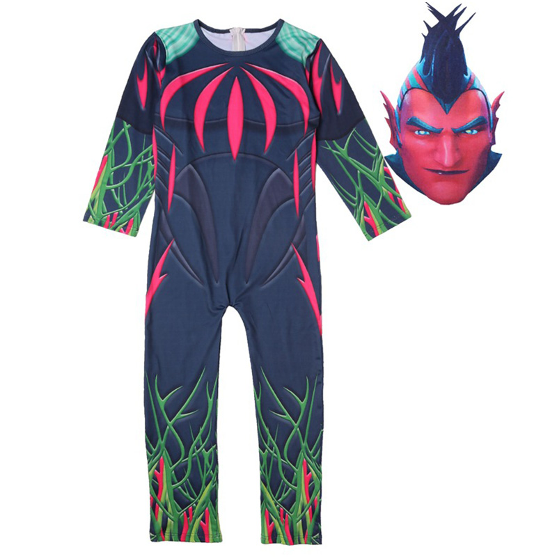 Boys Game Modle Cosplay Flight Trap Costume Party Halloween Christmas Costume for Kids Brithday Gift Fancy Jumpsuits Mask 2Ppcs