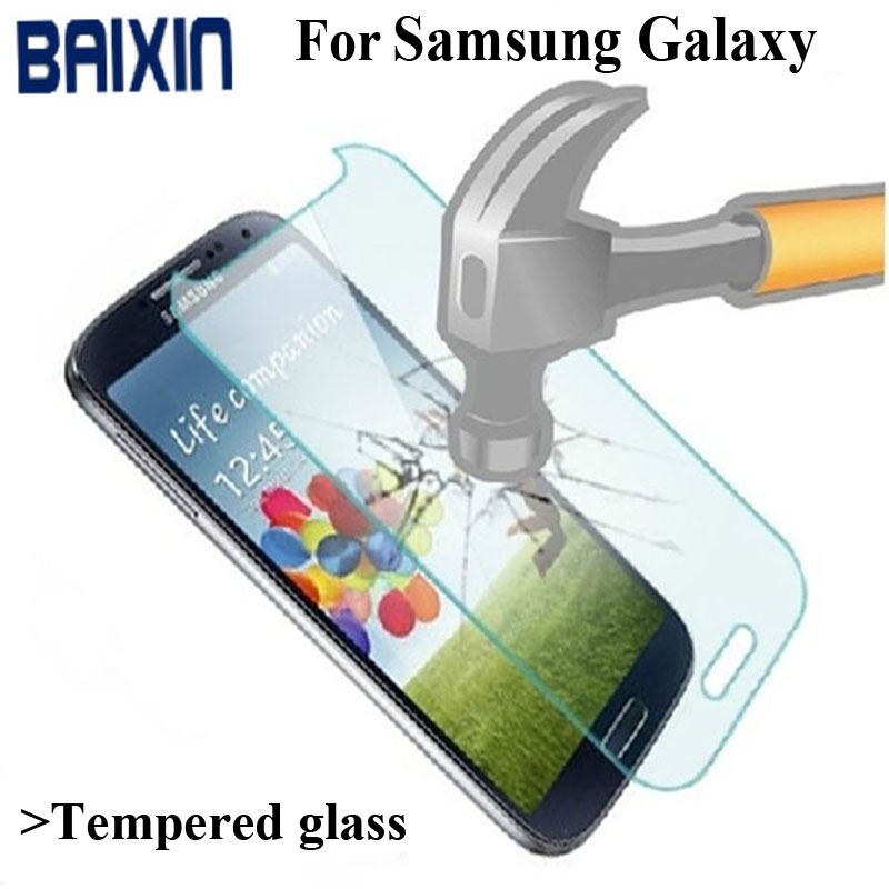 Baixin High Quality 0.3MM Screen Protector For Samsung Galaxy S7 S6 S5 S4 S3 Tempered Glass SM A3 A5 A7 J1 J3 J5 J7 Film Cover
