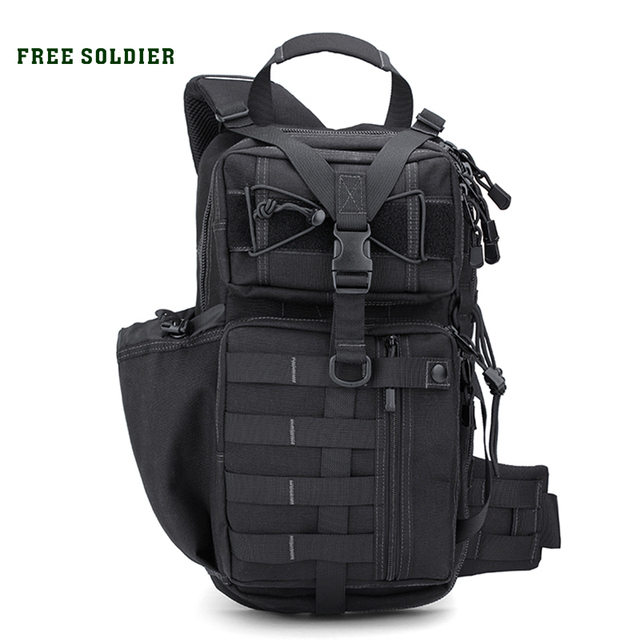 FREE SOLDIER Outdoor Sports Tactical Backpack For Camping Hiking Climbing Men's Backpack Nylon Bag Double Shoulder Bag