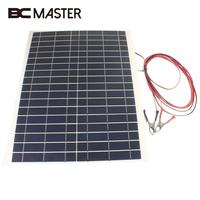 BCMaster Outdoor 20W 12V Battery Charger Kit Diy Photovoltaic Foldable Waterproof Solar Panel Charging Solar Cells