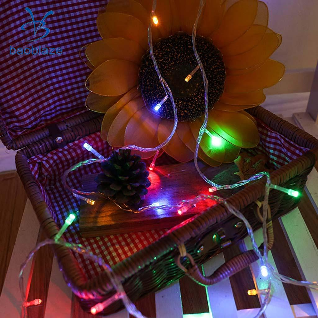 LED String Fairy Light Battery Operated Decorative Light 10LEDs Colorful