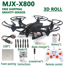 HOT MJX X800 drone rc quadcopter 2.4G 6-axis 4CH Remote Control Helicopter Drones can add C4015 Wifi FPV camera by free shipping