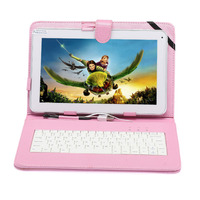 Free Shipping Boda 10.1 Android 4.4 Tablet A20 Dual Core 8GB Q88 Dual Camera w/ Pink Keyboard Gift usb flash drive 10 tablet pc