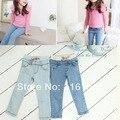 2017 весна осень лето мода причинно дети дети девушка джинсовые брюки девушки джинсы брюки розничная