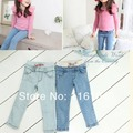 2017 spring autumn summer fashion causal children kids girl denim pants girls pants jeans trousers retail