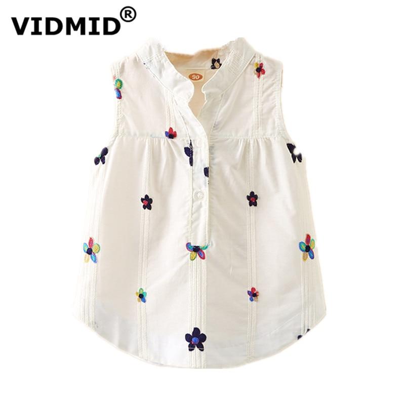 VIDMID Toddler Baby Girls Sleeveless Blouses Summer Clothing  Kids Girls Tops Shirts Tank Shirt Children's Clothes 7071 03
