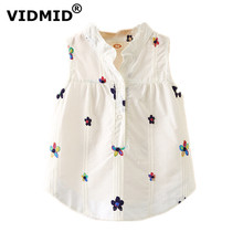 VIDMID Toddler Baby Girls Sleeveless blouses Summer Clothing  kids girls Tops shirts tank shirt childrens clothes 7071 03