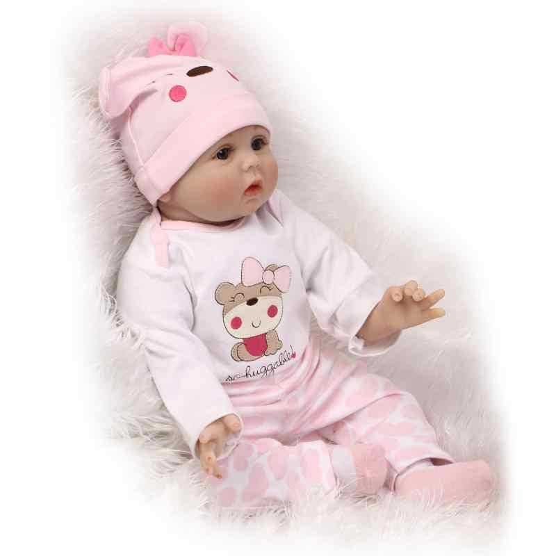 GonLel новорожденные младенцы Куклы Силиконовые милые мягкие куклы для девочек принцесса малыш мода Bebe куклы Reborn 55 см 40 см