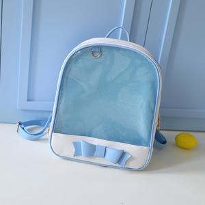 Image 5 - Милый прозрачный рюкзак MSMO с бантом, сумка Ita, школьные ранцы в стиле Харадзюку для девочек подростков, Детский милый рюкзак