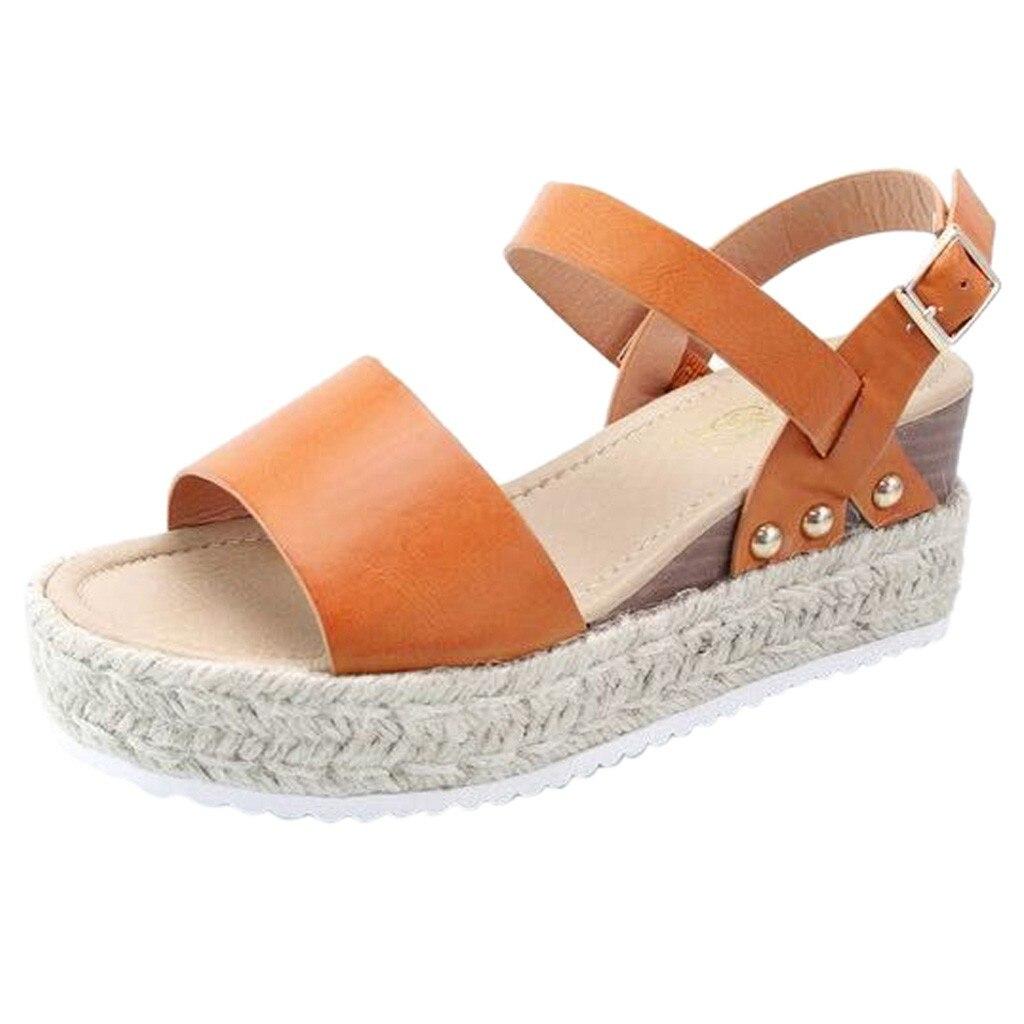 JAYCOSIN Shoes Platform Strap Sandals Fashion Peep-Toe Women Casual Wedges New-Arrival
