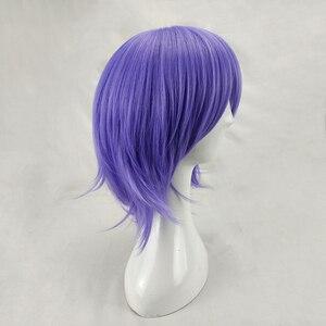Image 4 - HAIRJOY человек Для женщин фиолетовый Косплэй парик короткий кудрявый Синтетический волос вечерние парики с челкой 7 Цвета в наличии БЕСПЛАТНАЯ ДОСТАВКА