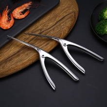 Peelers Portable Stainless Steel Prawn Shrimp Deveiner Peel Device Creative Kitchen Tools Remover One pieces