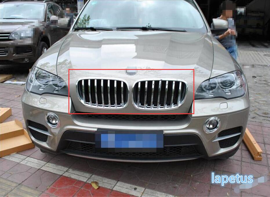 For BMW X5 E70 2009 - 2013 Plastic Front Face Grille Grill Bezel Decoration Frame Molding Garnish Cover Trim