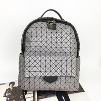 New Japan S Laser Brand Arrival Women Laser Backpack Diamond Lattice Shoulder Bag Geometry Quilted Pearl