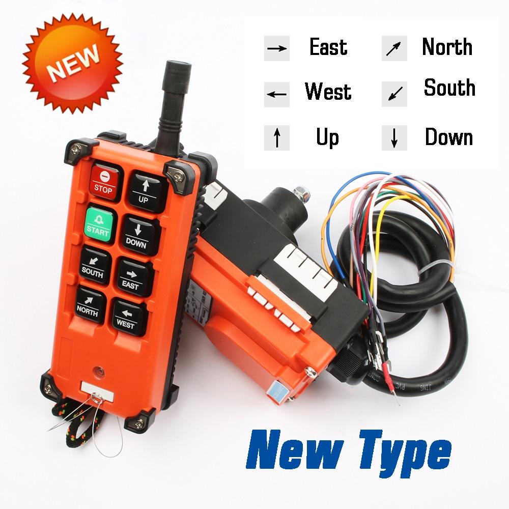 220V 380V 110V 12V 24V Industrial controle remoto interruptores de Controle Da Grua Guindaste Guindaste Elevador 1 transmissor + receptor 1 F21-E1B