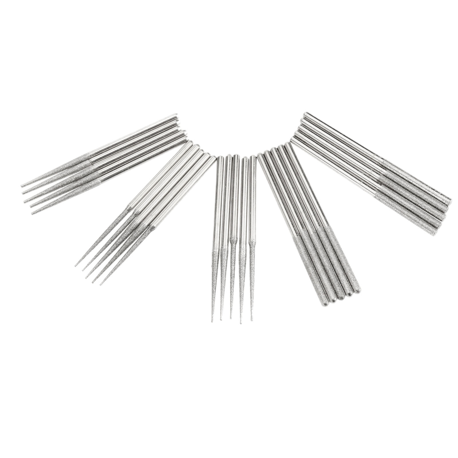 25Pc/set Dremel Accesories Mini Drill Diamond Grinding Head 3mm Shank Bur Bit Set Grinding Tool For Dremel Rotary Tool Polishing