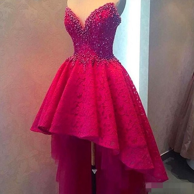 Hi Low Party Dress 2016 Hot Pink Graduation Gowns For Teens Robe ...