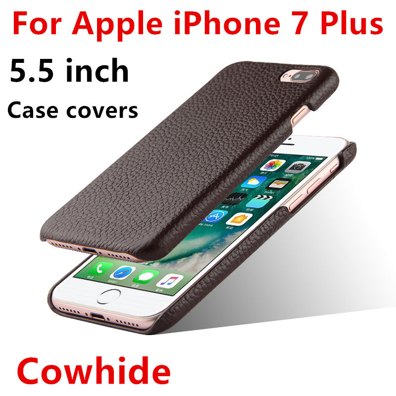 HUWEI Case Cowhide For Apple iPhone 7 Plus Protective shell cover For iphone7Plus 5.5Protector Genuine Leather Phone Back Cases
