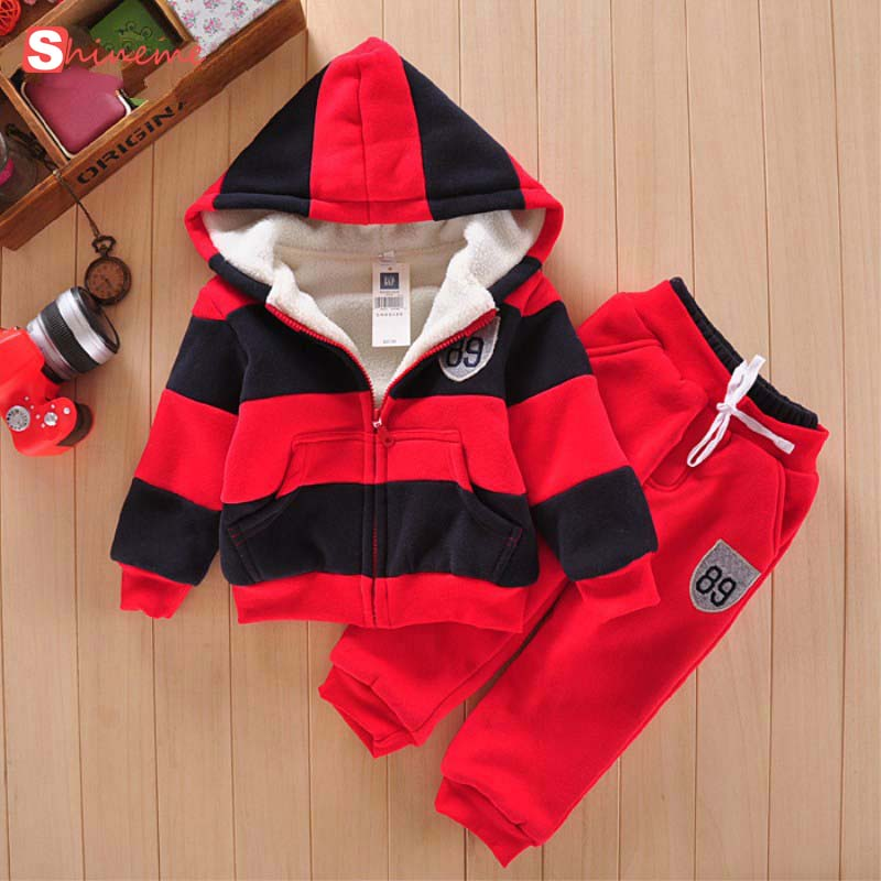 new high quality comfortable warm winter wool Baby Coat Pants Sports Suit Jacket soft Sweater Thicken Kids Clothes Set