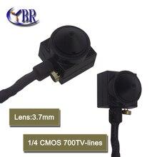Micro Hd Cmos 700tvl Mini Cámara de Vigilancia CCTV Pequeño Monitor De Vídeo 3.7mm Lente Del Agujero de Alfiler Con Micrófono Para la Seguridad Casera Cam