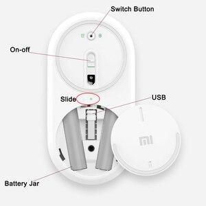Image 4 - Xiaomi mi mouse portátil sem fio, mouse original, mousos, liga de alumínio, material abs, 2.4ghz, wifi, bluetooth 4.0, controle conexão