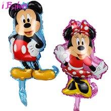 Mini Minnie Mickey Balões Folha 30 pcs mickey Globos Decorações Da Festa de Aniversário Crianças Brinquedo Mickey Minnie Fontes Do Partido por atacado