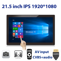 21.5 inch 10 point touch screen monitor ONLY (1920*1080 IPS, 100*100 VESA HDMI in, AV in, line out, 2M camera, Remote, USB)