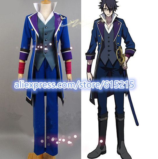 K Project Scepter 4 Saruhiko Fushimi Cosplay Costume Full Set Custom  Made-in Anime Costumes from Novelty & Special Use on Aliexpress.com |  Alibaba Group