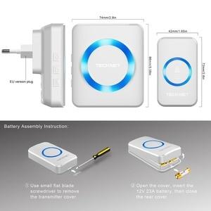 Image 5 - TeckNet 52 carillon sans fil porte cloche étanche 300M à distance sonnette ue UK Plug Smart porte cloche avec batterie maison sonnette