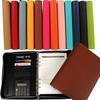 New 2015 Hot A5 High Grade Zipper Notebook Business Office Multifunctional Manager Folder Loose Leaf Notebook
