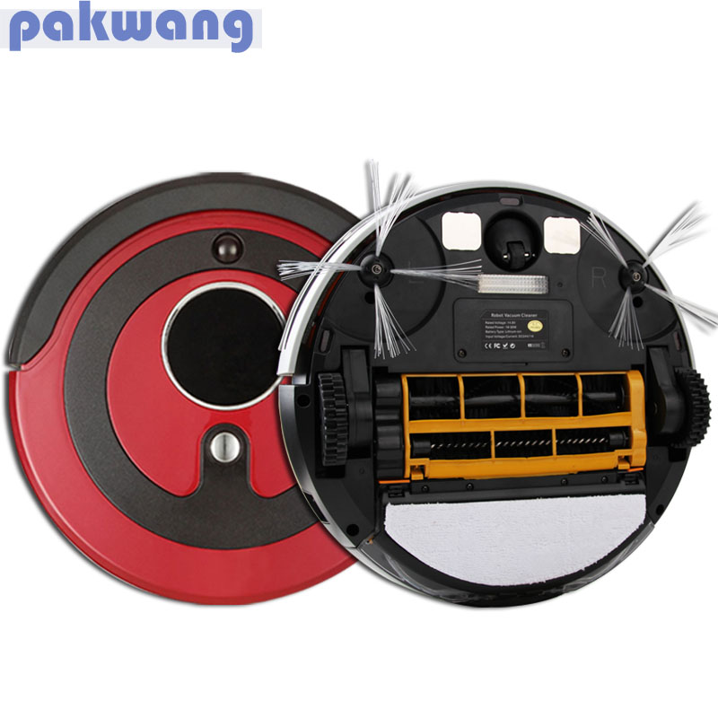 2017 Most Advanced Robot Vacuum Cleaner, Multifunction(Sweep,Vacuum,Mop,Sterilize) LCD Screen,Schedule Auto Recharge Aspirateur most advanced robot vacuum cleaner multifunctional sweep vacuum mop sterilize touch screen schedule 2 side brush self recharge