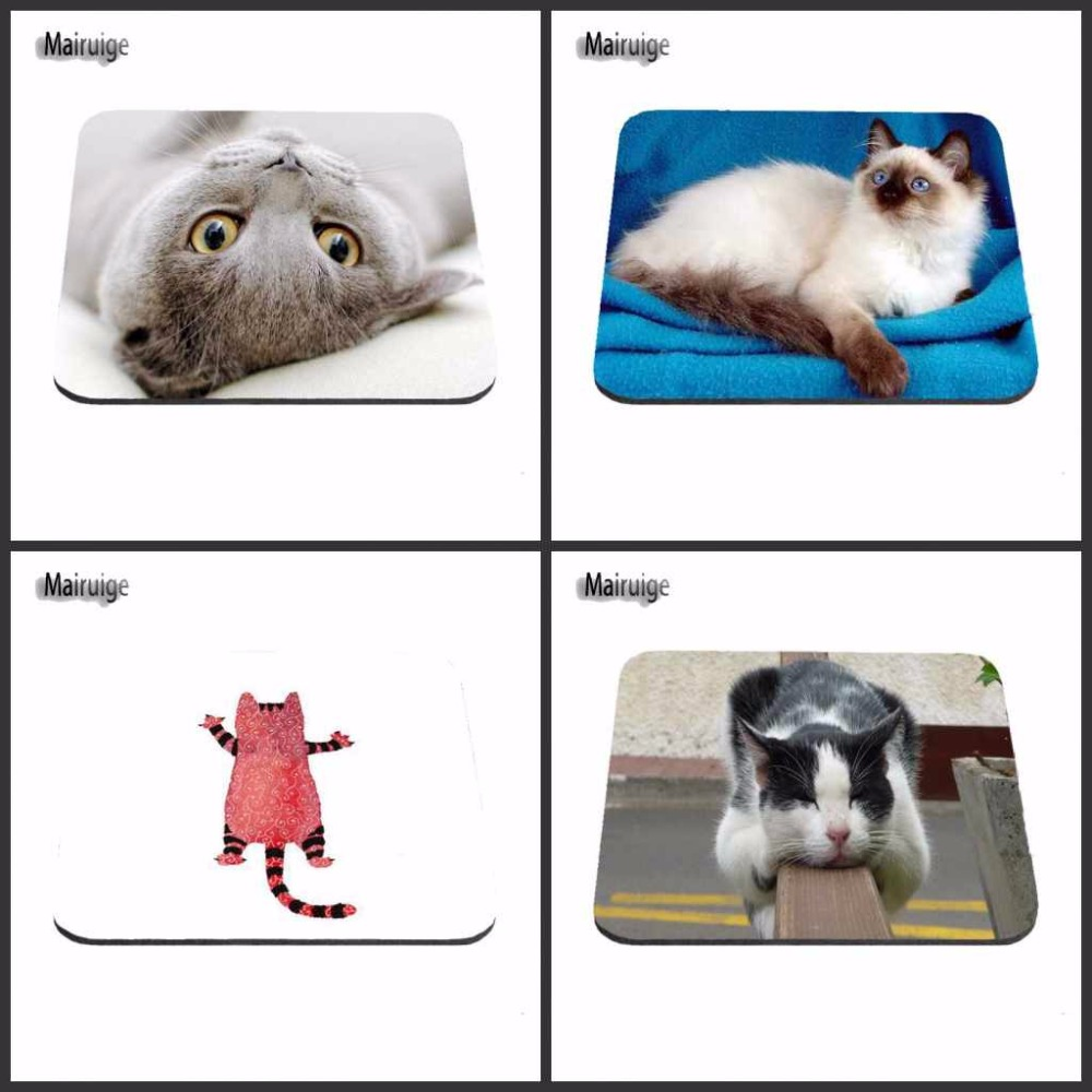 Hot Luxury Printing Cute Cat Custom Design Durable Game Gaming PC Anti-slip Mouse Mat Overlock Mouse Pad and Round Mouse Pad