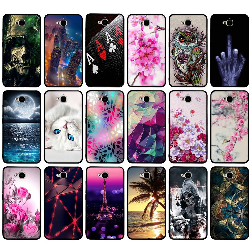 Soft TPU Case For Huawei Honor 4C Pro TIT-AL00 Y6 Pro TIT-L01 Enjoy 5 Honor Holly 2 Plus Cover Skin For Huawei Honor Play 5X Bag
